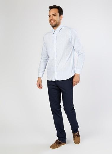 Limon Company Çizgili Uzun Kollu Gömlek Mavi